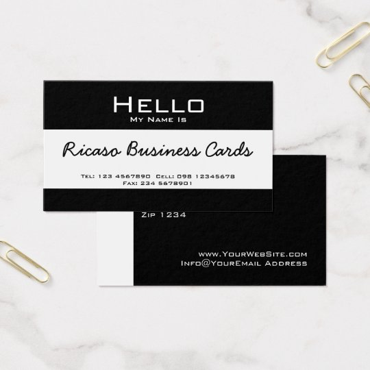 Hello My Name Is Business Card