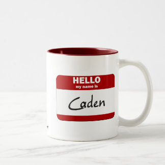 Hello My Name Is Caden (Red) Coffee Mug