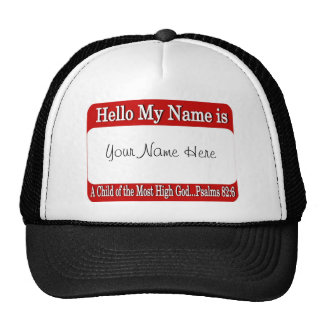 Hello My Name Is... Cap