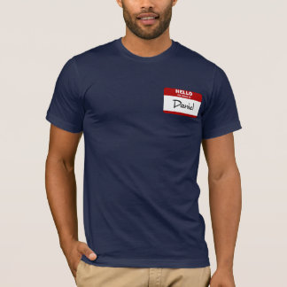 Hello My Name Is Daniel (Red) T-Shirt