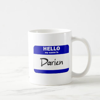 Hello My Name Is Darien (Blue) Basic White Mug