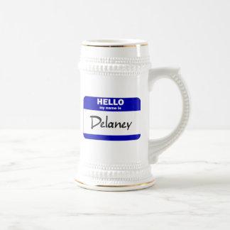 Hello My Name Is Delaney (Blue) Mug
