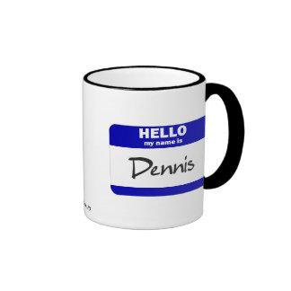 Hello My Name Is Dennis (Blue) Mug