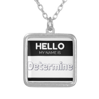 Hello my name is determine square pendant necklace