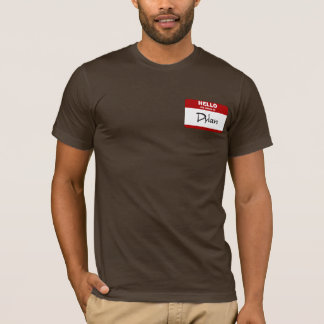 Hello My Name Is Dylan (Red) T-Shirt