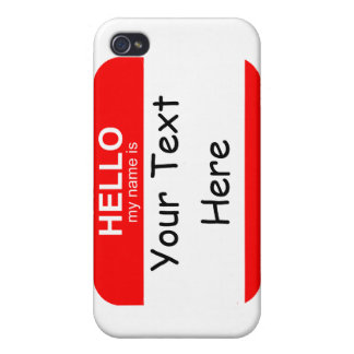 Hello My Name is Flexible Cover For iPhone 4