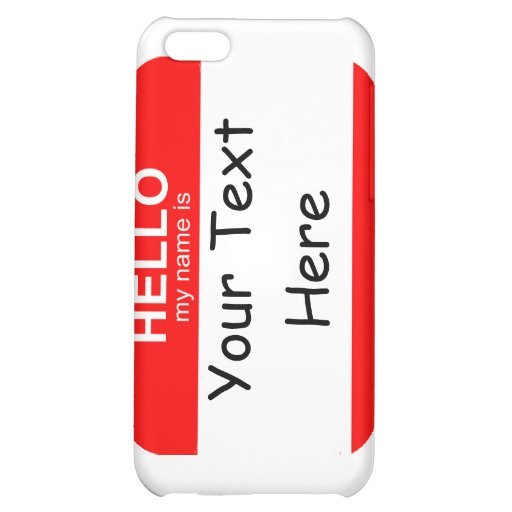 Hello My Name is Flexible iPhone 5C Cover