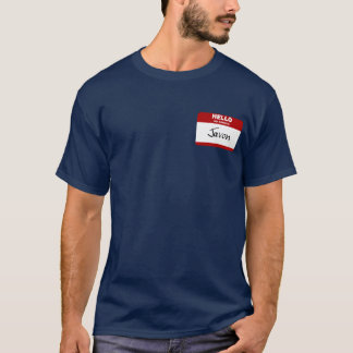 Hello My Name Is Javon (Red) T-Shirt