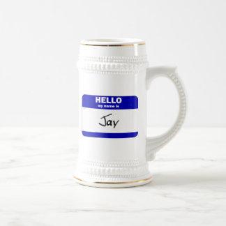 Hello My Name Is Jay (Blue) Coffee Mugs