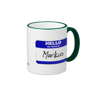 Hello My Name Is Markus (Blue) Coffee Mug