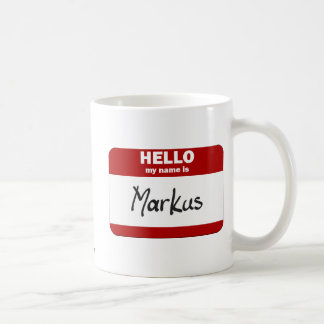 Hello My Name Is Markus (Red) Mugs
