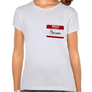 Hello My Name Is Maryam (Red) Tee Shirts
