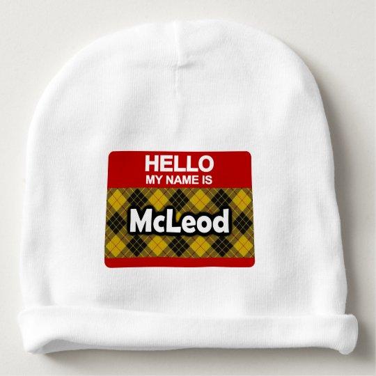 Hello My Name is McLeod Scottish Clan Tartan