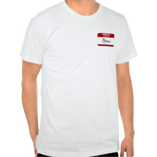Hello My Name Is Moses Red T Shirts