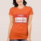 Hello My Name Is Name Tag Tshirt