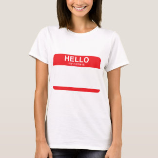 Hello My Name Is - Red T-Shirt