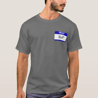 Hello My Name Is Rhett (Blue) T-Shirt