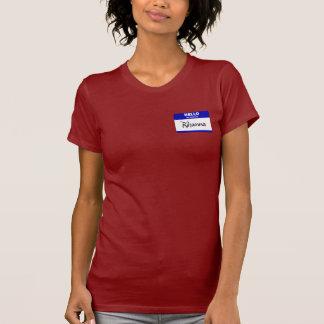 Hello My Name Is Rihanna Blue Tee Shirt