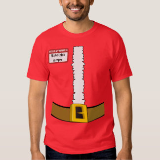 Hello My Name is Rudolph's Keeper Suit Front T-shirts