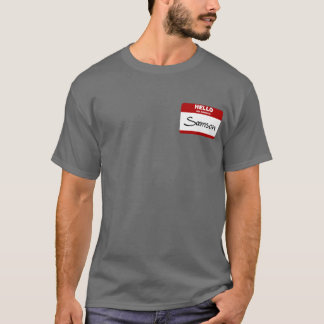 Hello My Name Is Samson (Red) T-Shirt