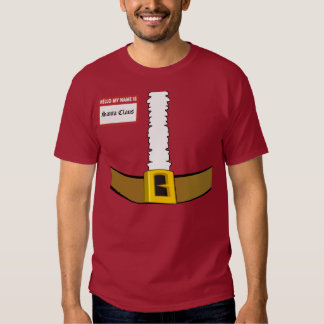 Hello My Name is Santa Claus Suit Front Customize! Tees