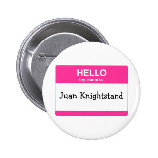 Hello My Name is Tag Pinback Button