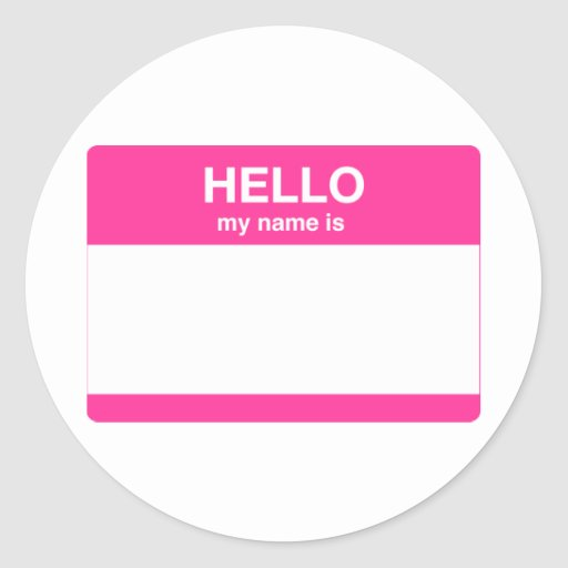 Hello, My Name is Tag Sticker