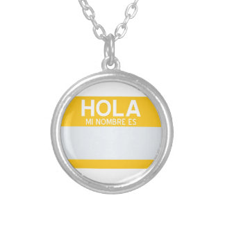 Hello My Name Is ... Template Silver Plated Necklace