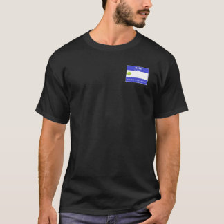 Hello My Name is Tennis Name Tag T-Shirt
