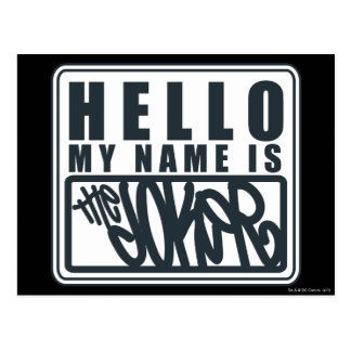 Hello My Name is the Joker Postcard