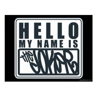 Hello My Name is the Joker Postcard