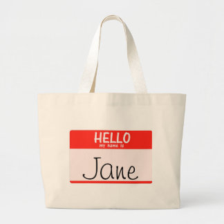 Hello My Name Is _______ Totebag Large Tote Bag