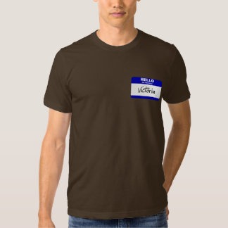 Hello My Name Is Victoria (Blue) T Shirt