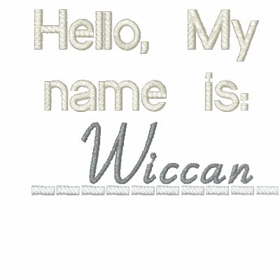 Hello, My name is Wiccan Embroidered Polo Shirts