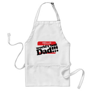Hello My Name Is World s Best Dad Apron