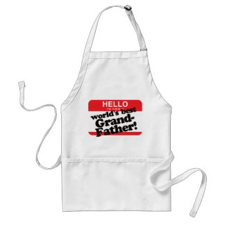 Hello My Name Is World's Best Grandfather Standard Apron