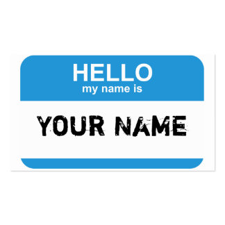 Hello my name is, Your Name Pack Of Standard Business Cards