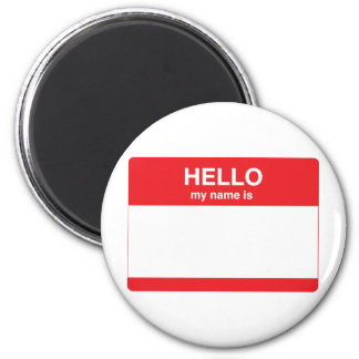 Hello, my name is (your text) magnet