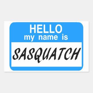 Hello Name Tag Sasquatch