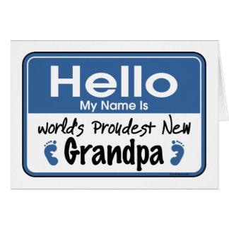 Hello New Grandpa Card