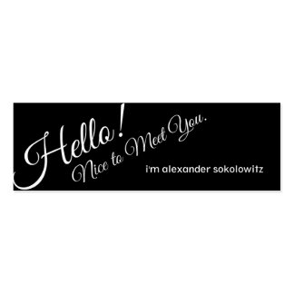 Hello Nice to Meet You Profile Business Card