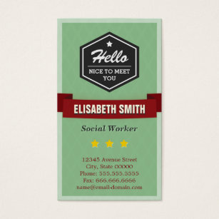 For history teacher business cards business card printing zazzle uk hello nice to meet you vintage retro stylish business card reheart Image collections
