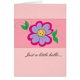 Hello notecard -blank inside