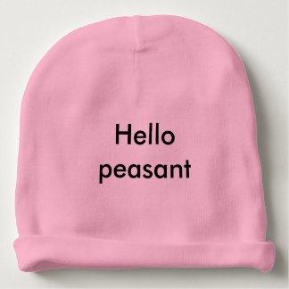 Hello peasant cutie pie baby hat baby beanie