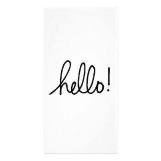 Hello Custom Photo Card