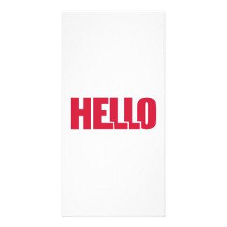 Hello Photo Greeting Card