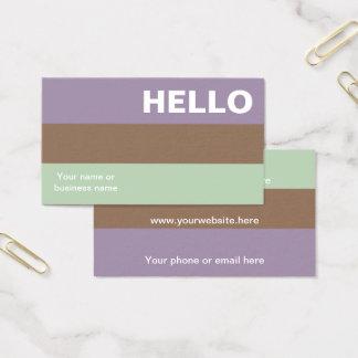 Hello Plum Mint Color Palette Minimal Classy Business Card