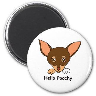 Hello Poochy Refrigerator Magnet