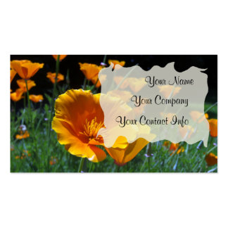 Hello Poppies Business Card Template