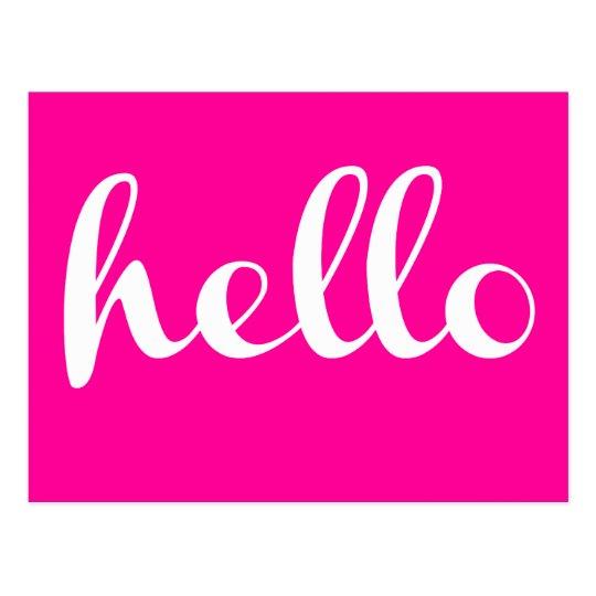 Hello! Postcard